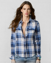 Denim and Supply Ralph Lauren Snap-Front Plaid Shirt - Tops - Women - Macys at Macys