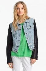 Denim and leather jacket by Rag and Bone at Nordstrom