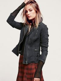 Denim blazer at Free People