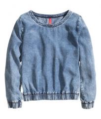 Denim blouse at H&M