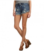 Denim cutoff shorts by Free People at Zappos