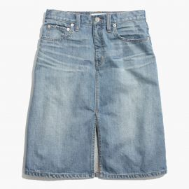 Denim high rise skirt at Madewell