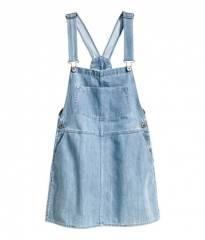 Denim overall dress at H&M