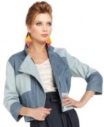 Denim patchwork jacket at Macys at Macys