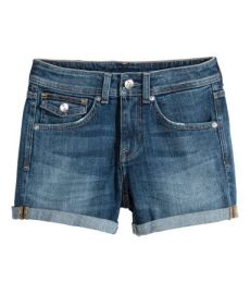 Denim shorts at H&M