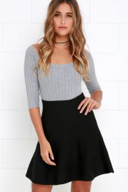 Depth of Field Black Skater Skirt at Lulus