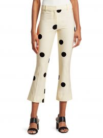 Derek Lam - Polka-Dot Cropped Flare Pants at Saks Off 5th