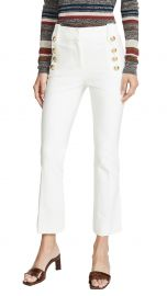 Derek Lam 10 Crosby Robertson Cropped Flare Trousers with Sailor Buttons at Shopbop
