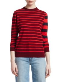 Derek Lam 10 Crosby Striped Crewneck Sweater at Saks Fifth Avenue