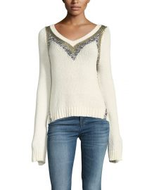 Derek Lam 10 Crosby V-Neck Pullover Sweater at Neiman Marcus