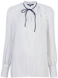 Derek Lam Sonia Stripped Long Sleeve Blouse - Farfetch at Farfetch