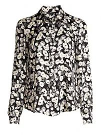 Derek Lam - Long-Sleeve Button-Down Poppy Print Silk Blouse at Saks Fifth Avenue