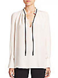 Derek Lam - Long-Sleeve Tie-Neck Silk Blouse at Saks Fifth Avenue