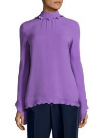 Derek Lam - Silk Ruffle Top at Saks Fifth Avenue