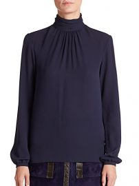 Derek Lam - Silk Turtleneck Blouse at Saks Fifth Avenue