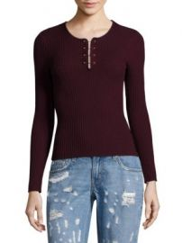 Derek Lam 10 Crosby - Barbell Rib-Knit Merino Wool Pullover at Saks Fifth Avenue