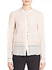 Derek Lam 10 Crosby - Embroidered Silk Blend Top at Saks Fifth Avenue