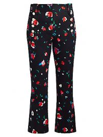 Derek Lam 10 Crosby - Floral High-Rise Cropped Pants at Saks Fifth Avenue