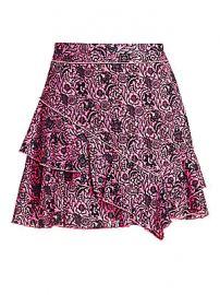 Derek Lam 10 Crosby - Floral Ruffle Mini Skirt at Saks Fifth Avenue