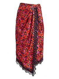 Derek Lam 10 Crosby - Liona Lace-Trimmed Faux-Wrap Skirt at Saks Fifth Avenue