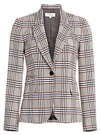 Derek Lam 10 Crosby - One-Button Plaid Blazer at Saks Fifth Avenue