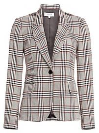 Derek Lam 10 Crosby - One-Button Plaid Blazer at Saks Fifth Avenue