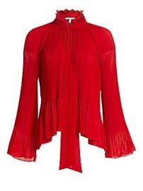 Derek Lam 10 Crosby - Pleated Bell Sleeve Blouse at Saks Fifth Avenue