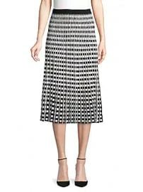 Derek Lam 10 Crosby - Pleated Check Midi Skirt at Saks Off 5th