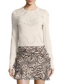 Derek Lam 10 Crosby - Pointelle Cotton Sweater at Saks Fifth Avenue