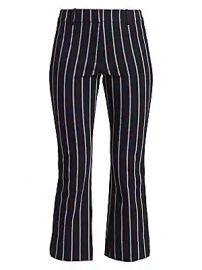 Derek Lam 10 Crosby - Striped Crop Flare Pants at Saks Fifth Avenue