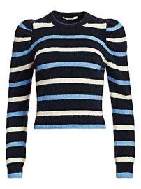 Derek Lam 10 Crosby - Striped Puff Sleeve Sweater at Saks Fifth Avenue