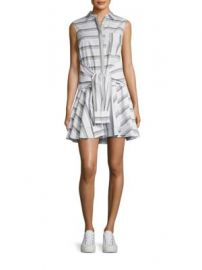 Derek Lam 10 Crosby - Tie-Front Striped Shirtdress at Saks Fifth Avenue