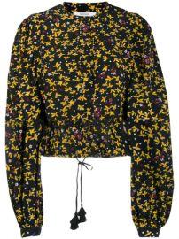 Derek Lam 10 Crosby Aster Cropped Jasmine Floral Blouse - Farfetch at Farfetch