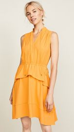 Derek Lam 10 Crosby Belted Dress with Tiered Skirt at Shopbop