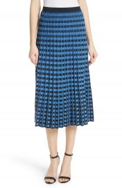 Derek Lam 10 Crosby Check Pleated Midi Skirt   Nordstrom at Nordstrom