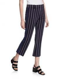 Derek Lam 10 Crosby Cropped Flare Trousers with Braided Trim at Neiman Marcus