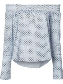 Derek Lam 10 Crosby Dots Print Off-shoulders Blouse at Farfetch
