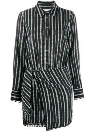 Derek Lam 10 Crosby Eunice Diamond Striped Shirt Dress - Farfetch at Farfetch