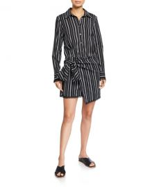 Derek Lam 10 Crosby Eunice Striped Shirt Dress at Neiman Marcus