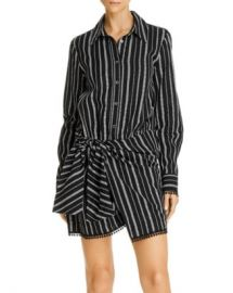 Derek Lam 10 Crosby Eunice Tie-Waist Striped Shirtdress Women - Bloomingdale s at Bloomingdales