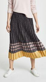 Derek Lam 10 Crosby Pleated Metallic Knit Skirt at Shopbop