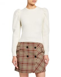 Derek Lam 10 Crosby Puff-Sleeve Alpaca Sweater at Neiman Marcus