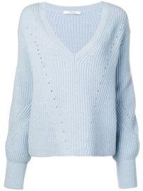 Derek Lam 10 Crosby Ribbed Bell Sleeve Sweater - Farfetch at Farfetch