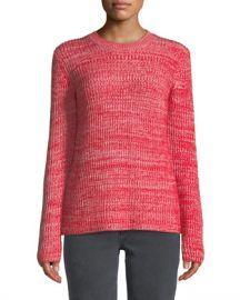 Derek Lam 10 Crosby Ribbed Crewneck Merino Pullover Sweater at Neiman Marcus