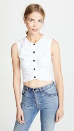 Derek Lam 10 Crosby Ruched Crop Top at Shopbop