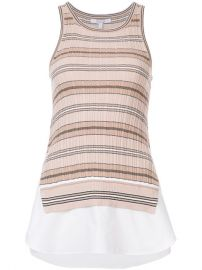 Derek Lam 10 Crosby Sheer Striped Tank  325 - Buy AW17 Online - Fast Delivery  Price at Farfetch