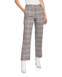 Derek Lam 10 Crosby Straight-Leg Check Trousers at Neiman Marcus