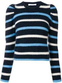 Derek Lam 10 Crosby Striped Puff Sleeve Sweater - Farfetch at Farfetch
