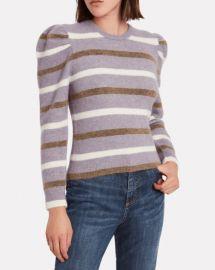 Derek Lam 10 Crosby Striped Puff Sleeve Sweater at Steven Dann