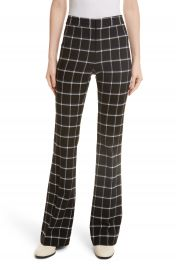 Derek Lam 10 Crosby Windowpane Check Flare Trousers at Nordstrom